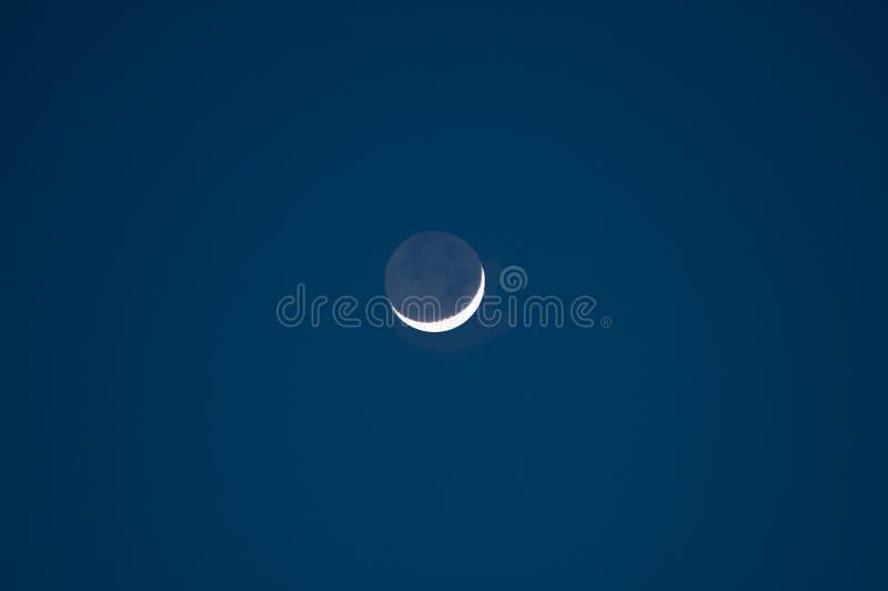 Luna de disminución imagen de archivo libre de regalías
