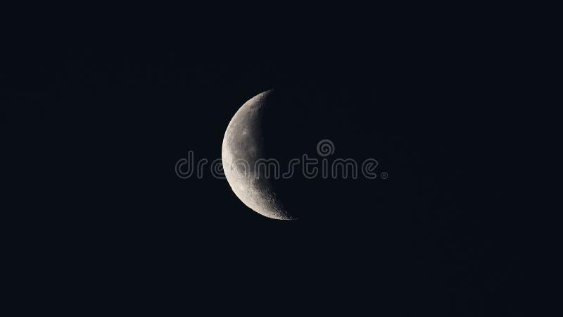 Luna de disminución fotos de archivo