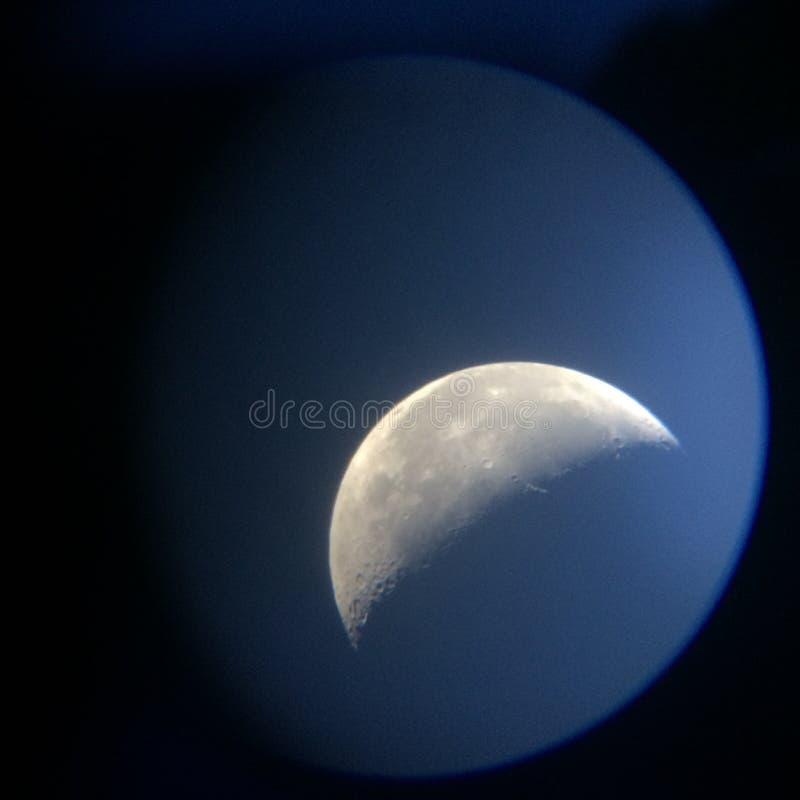 Luna de la mañana foto de archivo libre de regalías