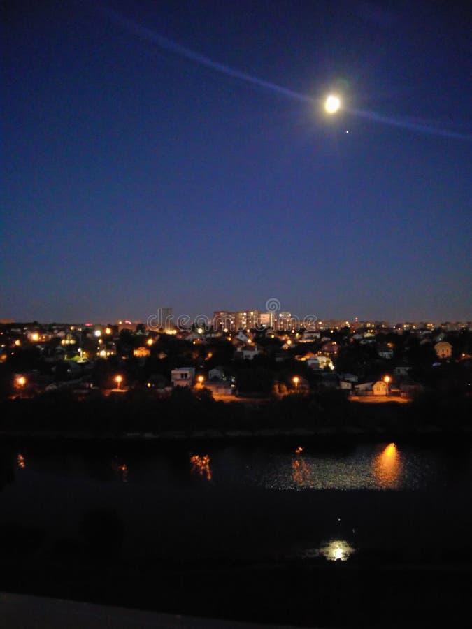Luna de la noche fotos de archivo libres de regalías