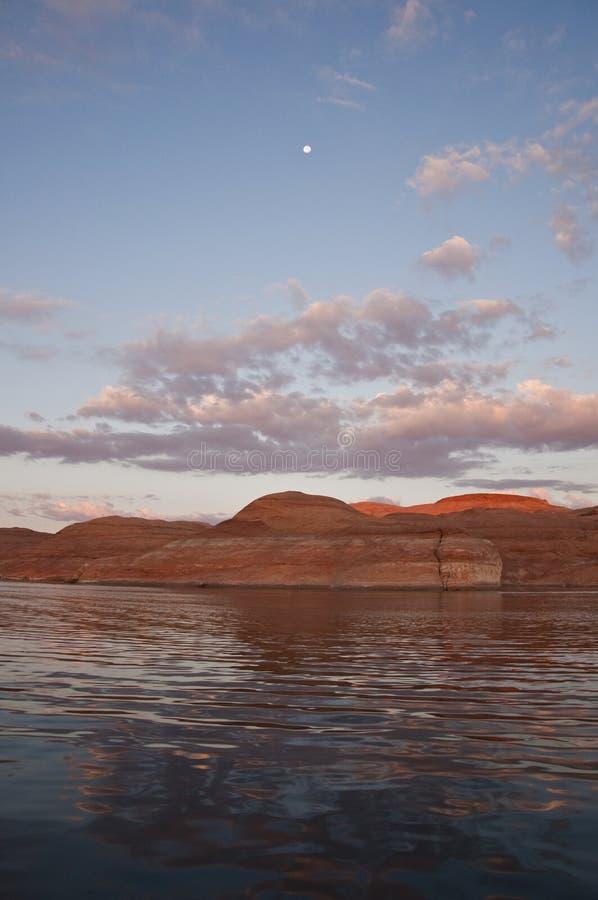 Luna de la salida del sol fotografía de archivo libre de regalías