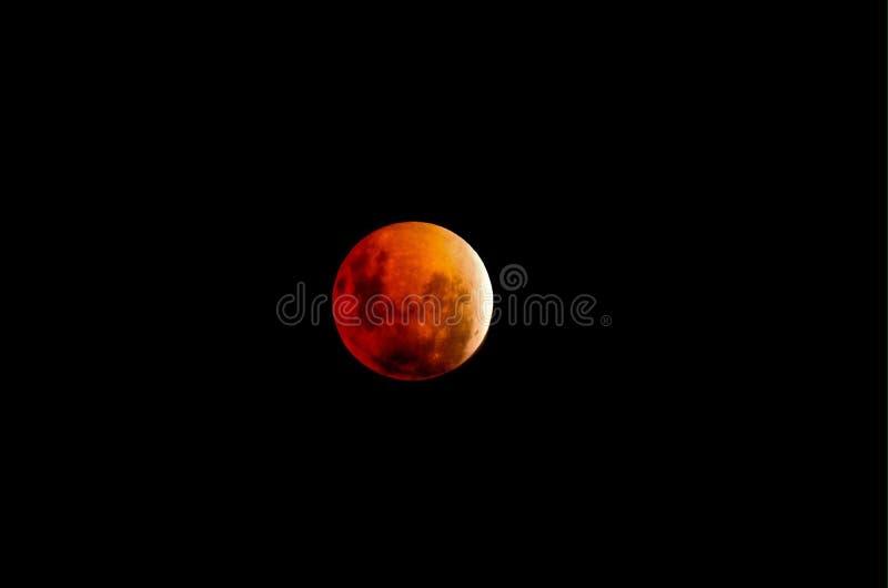 Luna de la sangre imagen de archivo libre de regalías