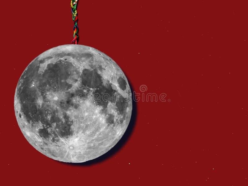 luna de papel con las estrellas imágenes de archivo libres de regalías