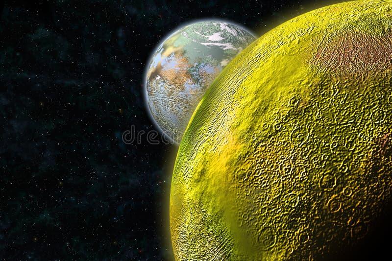 Luna del azufre ilustración del vector