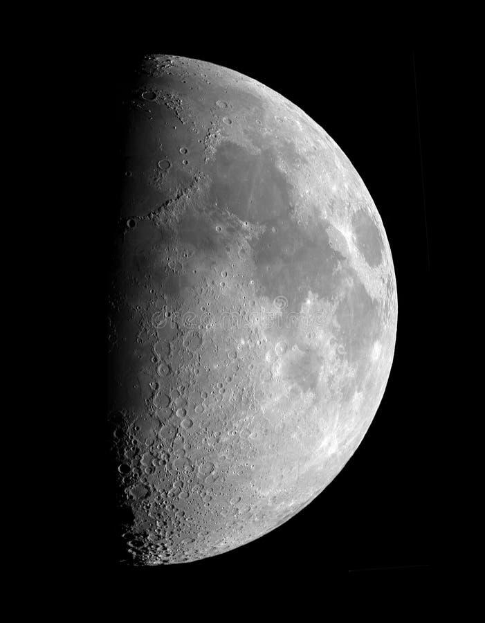 Luna del primo trimestre fotografie stock