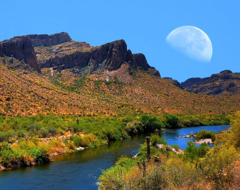 Luna del río Salt fotos de archivo
