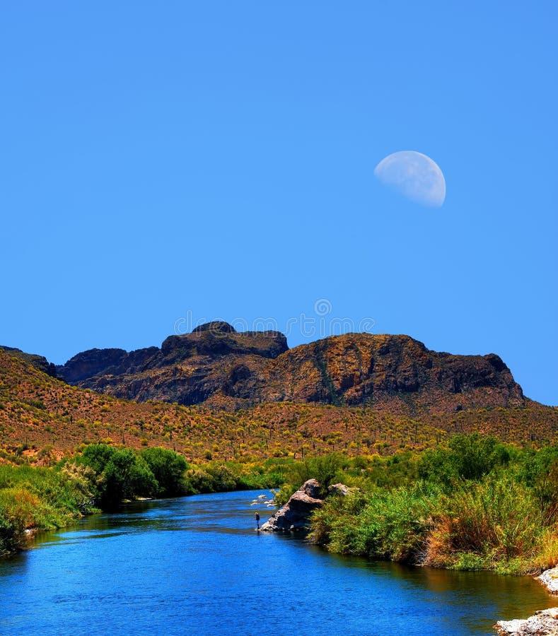Luna del río Salt foto de archivo