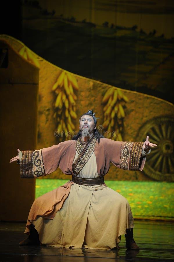 Luna di balletto di Qigong-Hui di meditazione sopra Helan immagini stock libere da diritti