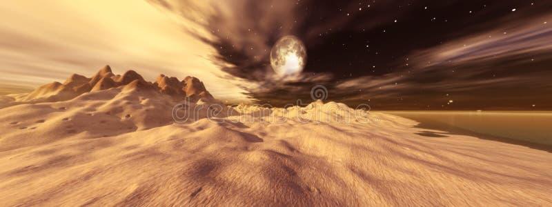 Luna di Tusken illustrazione vettoriale