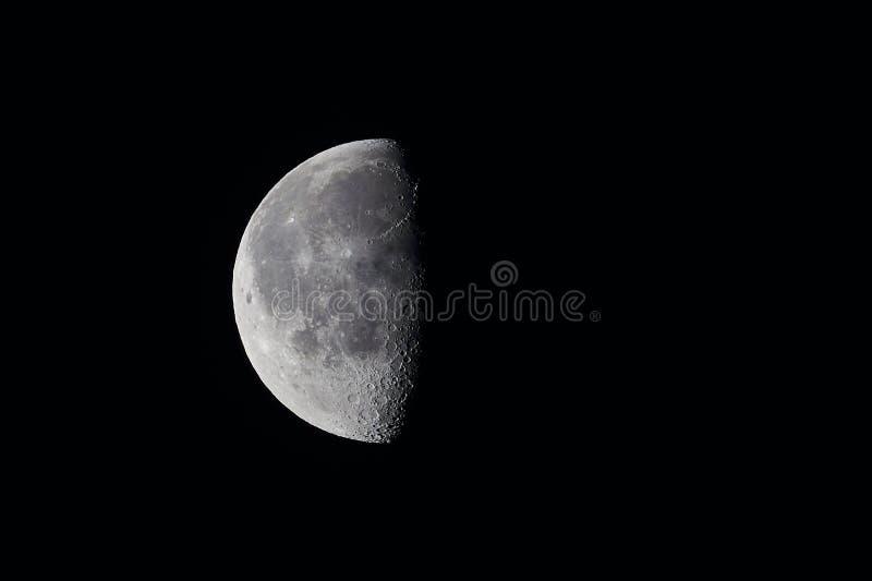 Luna diminuente fotografia stock