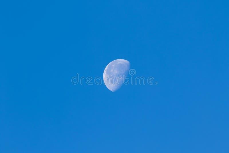 Luna diurna fotografía de archivo