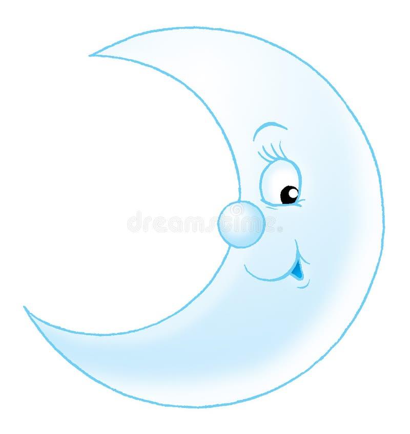 Luna divertente illustrazione vettoriale