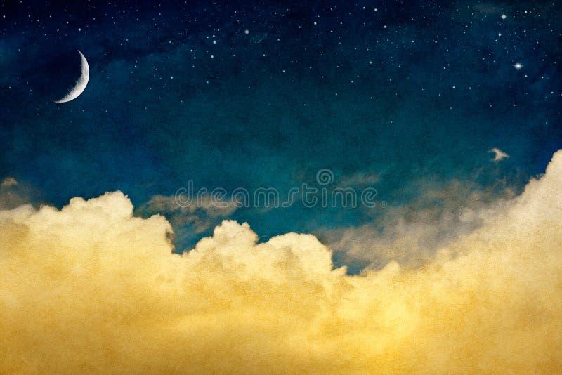 Luna e Cloudscape fotografia stock