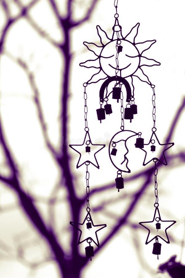 Luna e stella di Sun immagini stock libere da diritti