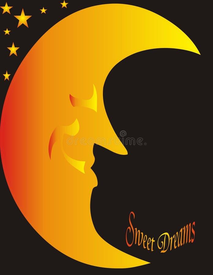 Download Luna E Stelle - Sogni Dolci Illustrazione di Stock - Illustrazione di bellezza, luminoso: 3887057