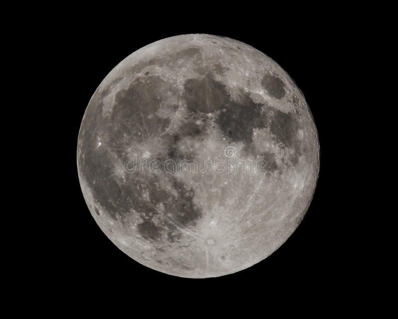 Luna eccellente del sangue blu, fine su fotografia stock