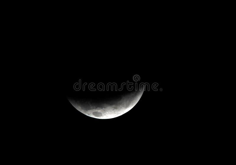 Luna, eclipse lunar del total visto de Utila, Honduras fotografía de archivo