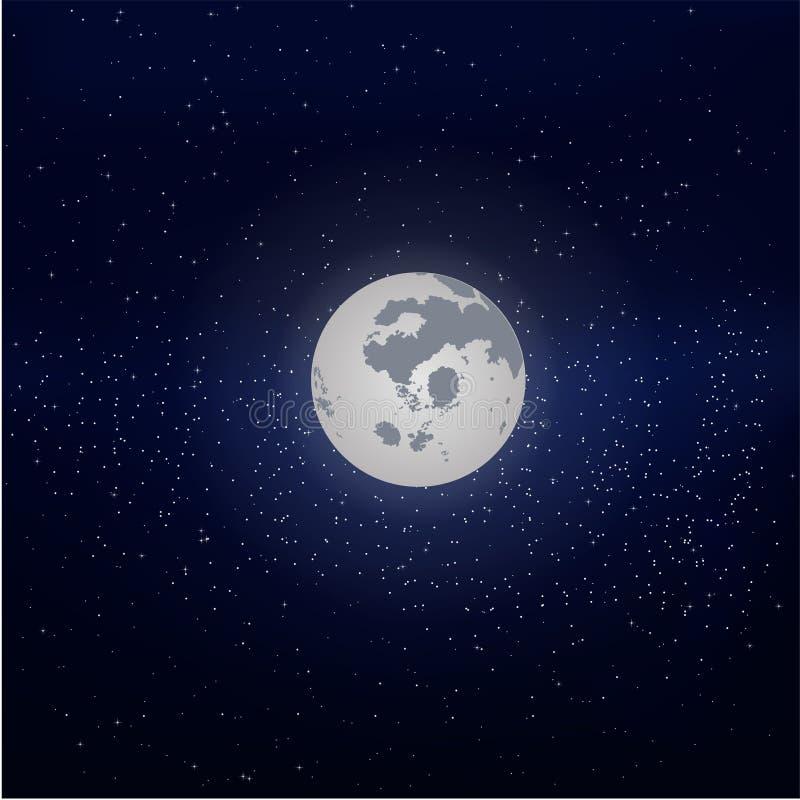 Luna en el cielo estrellado fotografía de archivo libre de regalías