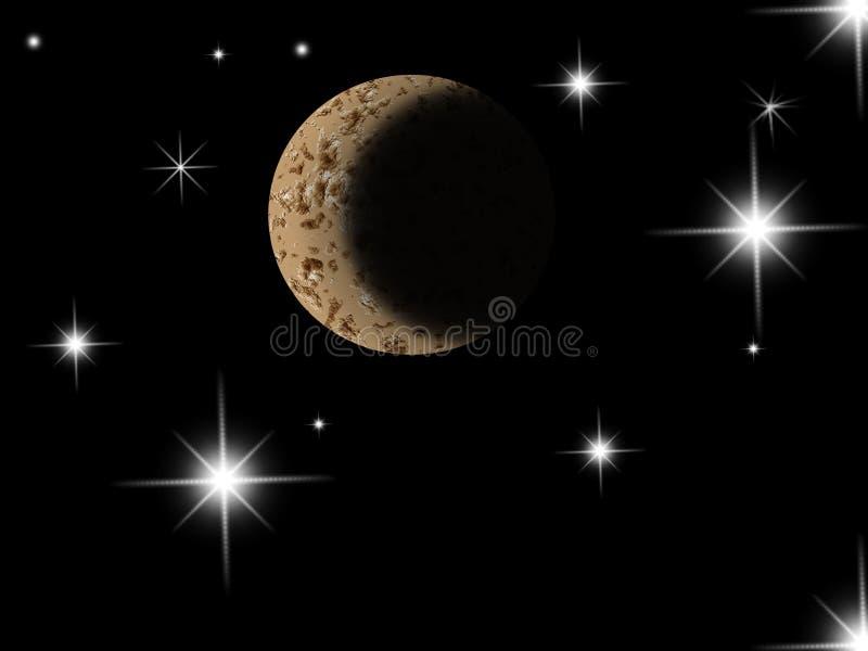 Luna en galaxia libre illustration