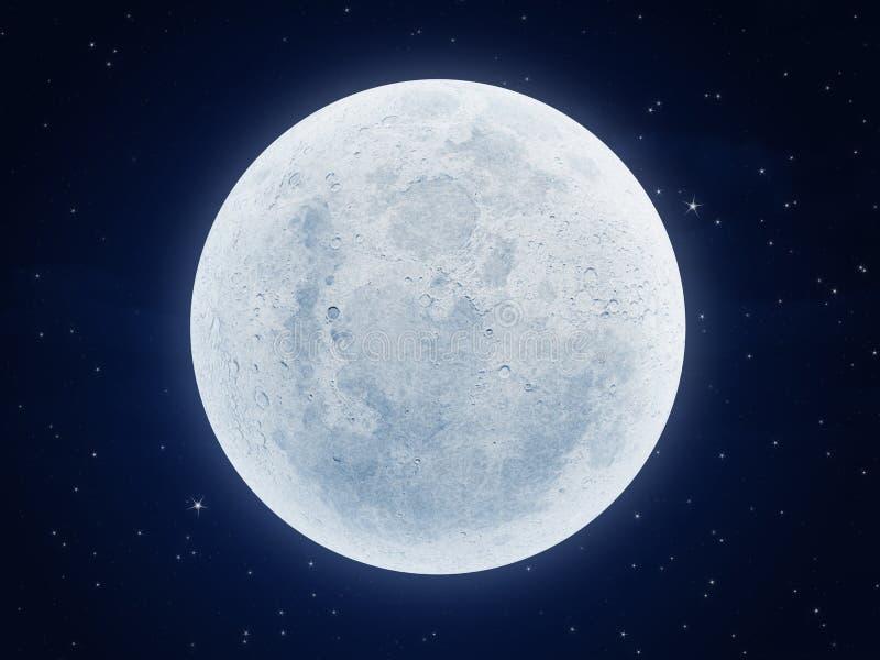 Luna en la noche stock de ilustración