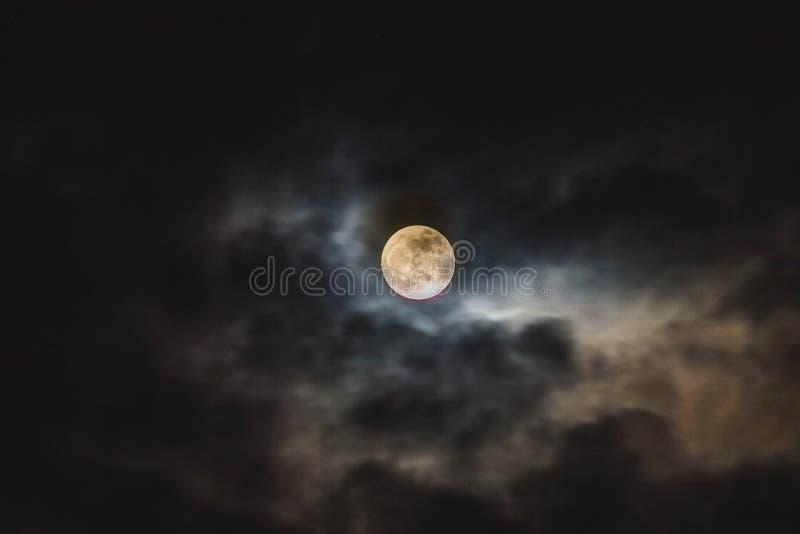 Luna en la oscuridad imágenes de archivo libres de regalías