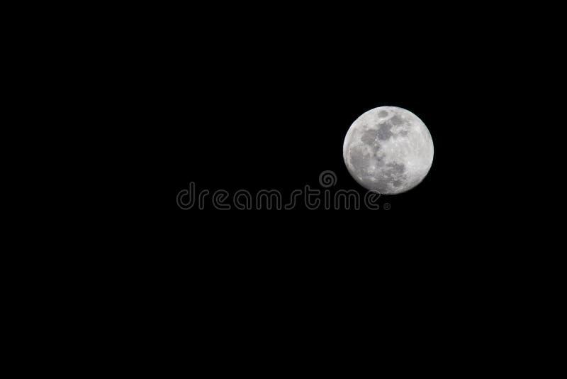 Luna en noche foto de archivo