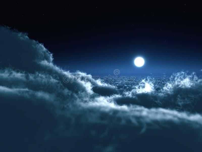 Luna en oscuridad ilustración del vector