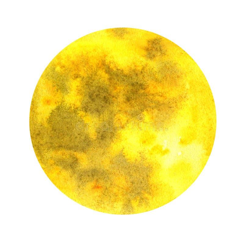 Luna en un fondo blanco ilustración del vector