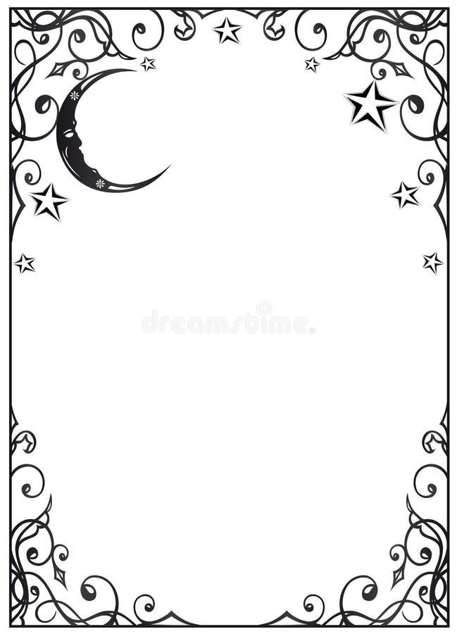 Luna, estrellas ilustración del vector