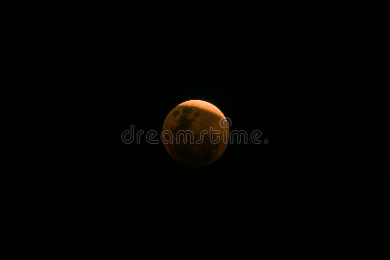 Luna estupenda de la sangre azul cerca del eclipse lunar total foto de archivo libre de regalías