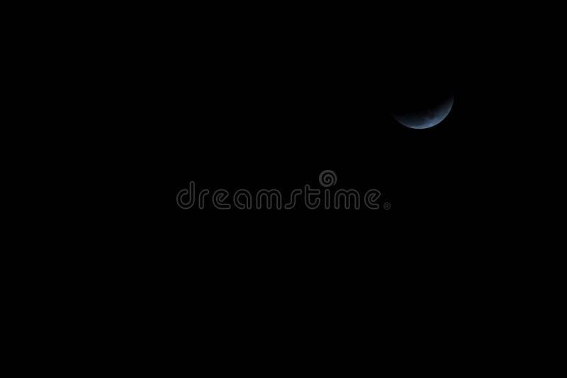 Luna estupenda de la sangre azul y eclipse lunar foto de archivo libre de regalías