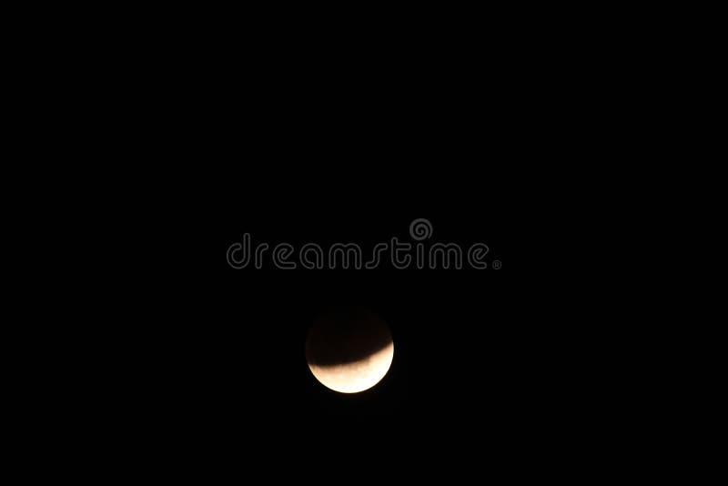 Luna estupenda de la sangre azul y eclipse lunar fotos de archivo libres de regalías