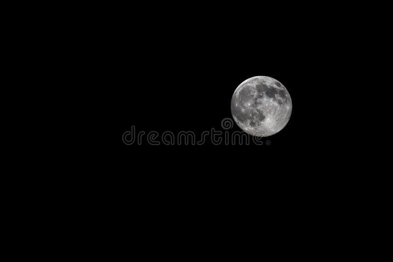 Luna estupenda: perigeo 12 de julio de 2014 lunar fotografía de archivo