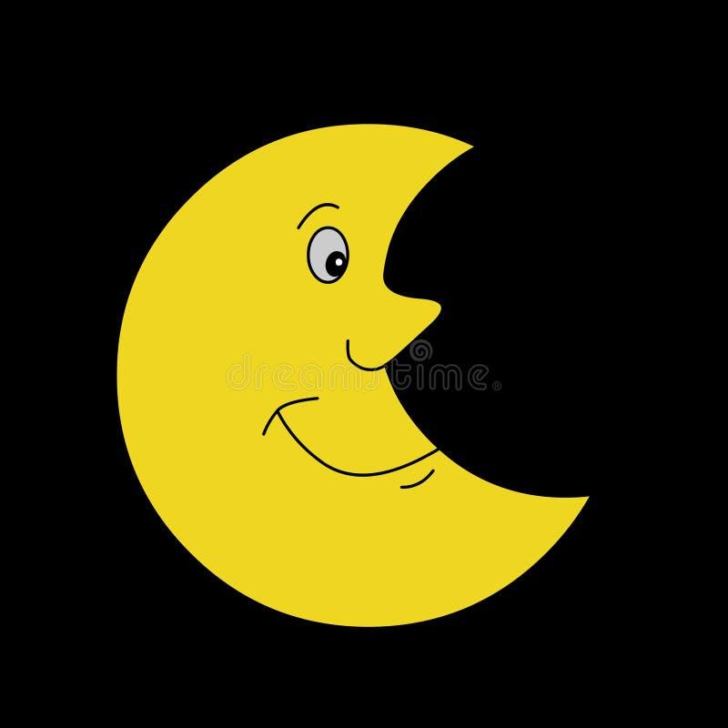 Luna felice illustrazione di stock