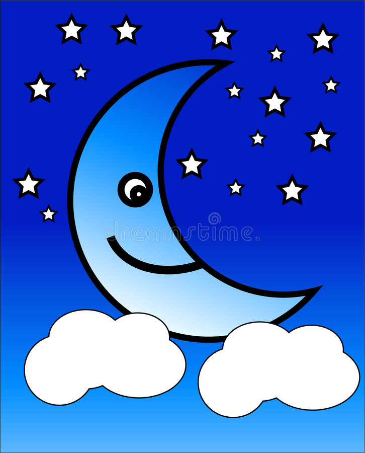 Luna felice illustrazione vettoriale