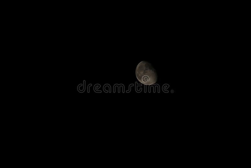 Luna gibbous calante fotografia stock