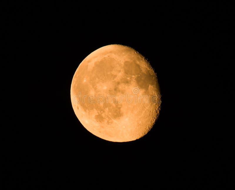 Luna gibosa foto de archivo libre de regalías