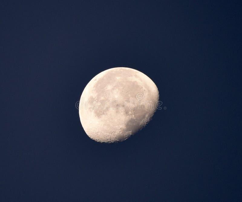 Luna gibosa de disminución imagen de archivo libre de regalías