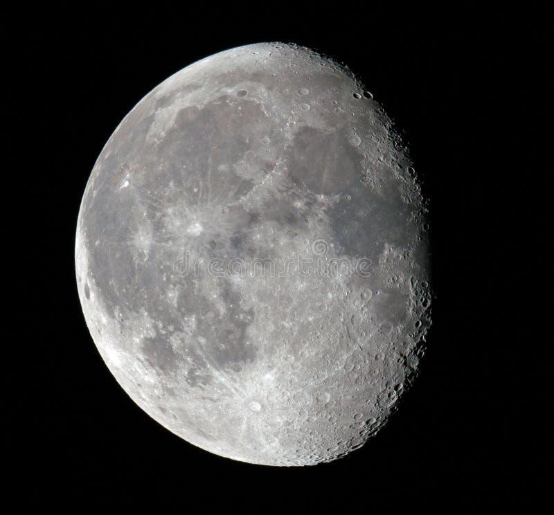 Luna gibosa de disminución foto de archivo