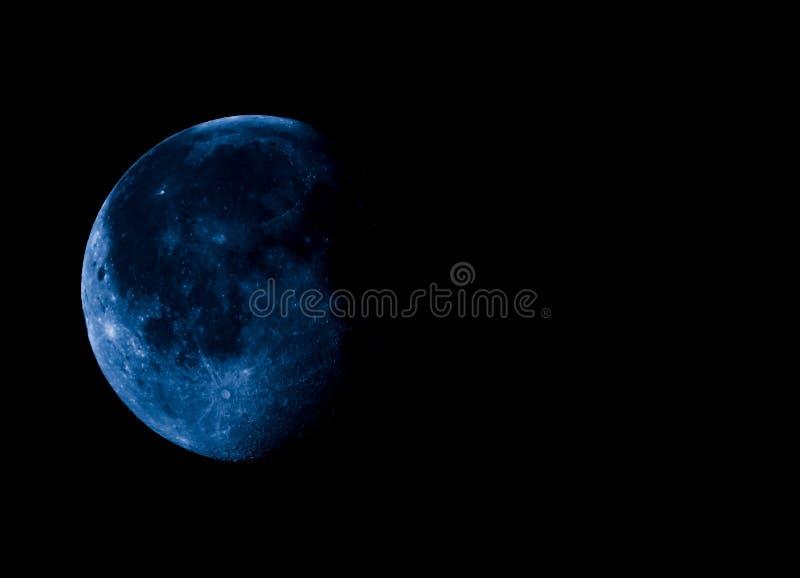 Luna gibosa de disminución del alto contraste con el espacio de la copia fotos de archivo libres de regalías