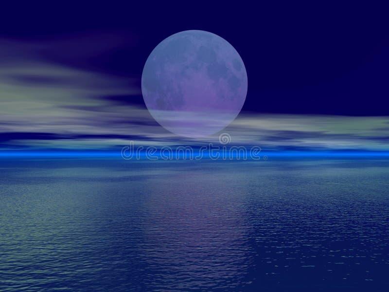 Luna grande stock de ilustración