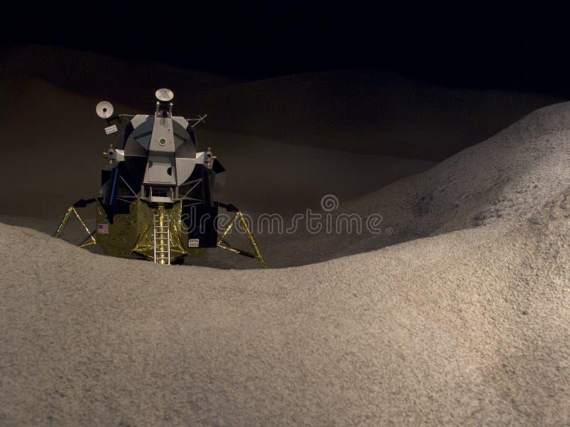 Luna Lander horizontal foto de archivo