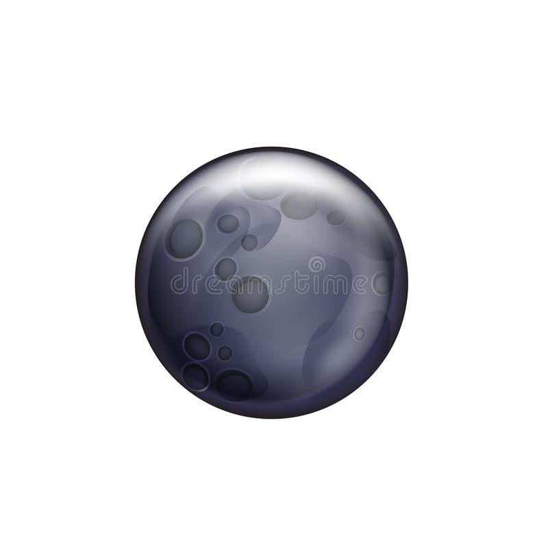 Download Luna Llena Aislada En Blanco Ilustración del Vector - Ilustración de celestial, oscuro: 42439158
