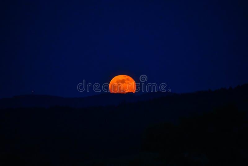 Luna Llena casi fotografía de archivo libre de regalías