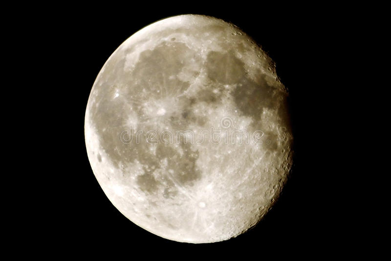 Luna con los cráteres fotos de archivo libres de regalías