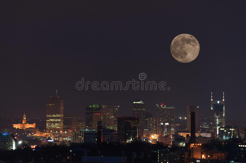 Luna Llena de Nashville imagen de archivo