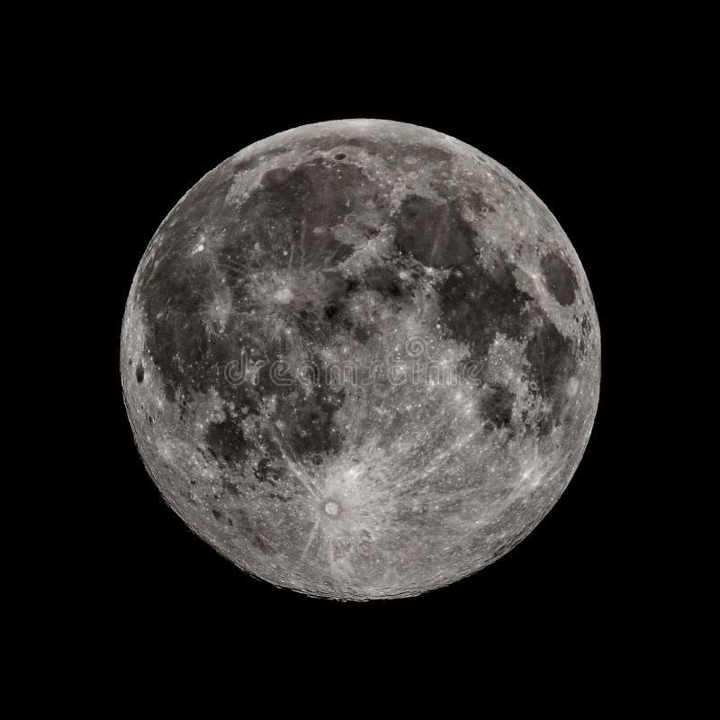 Luna Llena del equinoccio de caída en toda su gloria imagen de archivo