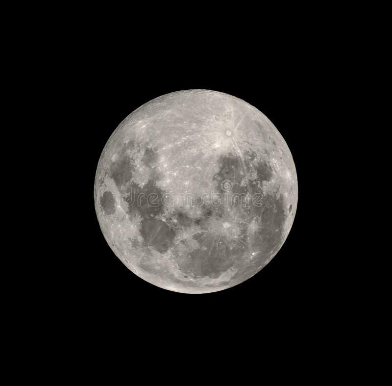 Luna Llena del hemisferio meridional aislada en negro fotos de archivo libres de regalías