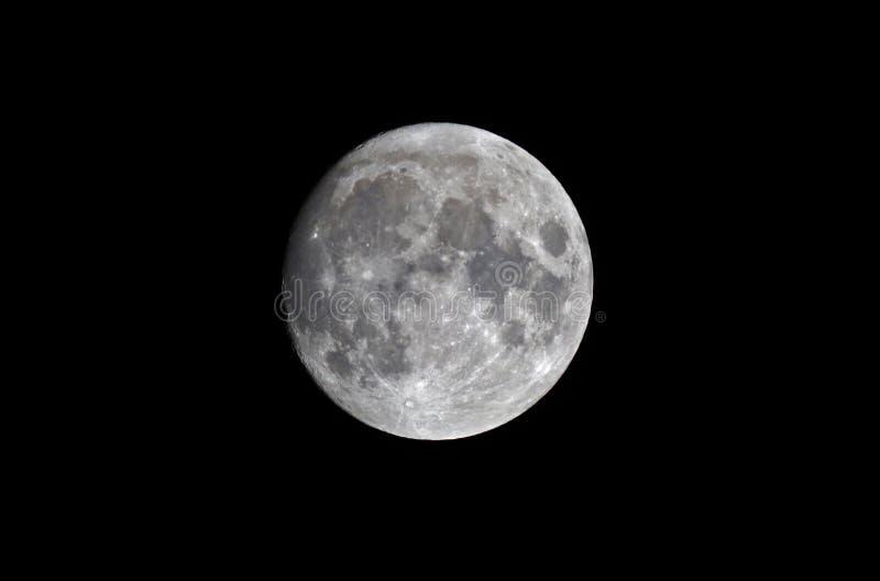 Luna Llena en el 4 de enero, Europa fotografía de archivo libre de regalías
