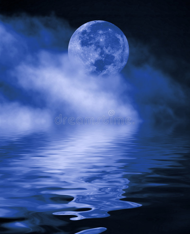 Luna Llena en la noche fotografía de archivo